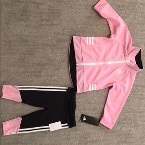 New Adidas baby girl two piece set 12 months